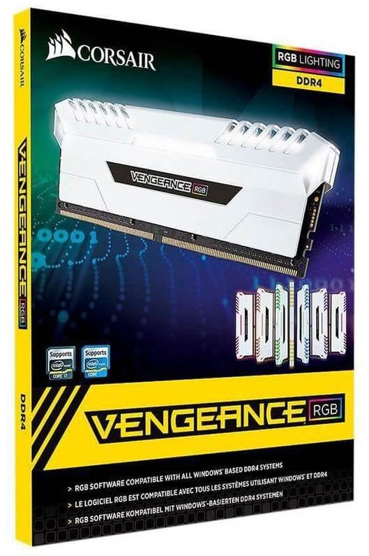CORSAIR Vengeance RGB Pro 16GB (2 x 8GB) 3000 MHZ Desktop Memory Model CMW16GX4M2C3000C15W