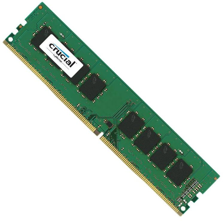 Crucial 4GB DDR4 2400 MHz RAM for Desktop, (PC4-19200) CL17 Unbuffered DIMM 288 Pin (CT4G4DFS824A)