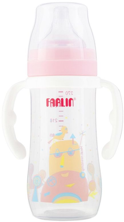 Farlin Silky PP Little Art Feeding Bottle With Hanlde, 270 ml