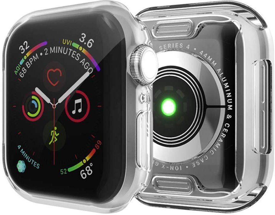 For Smart Watch Series 4 Screen Protector 44mm 2018 Smart Watch Series 4 case 44mm Soft TPU Slim Full-Around Protective iWatch 4 Case Cover (Clear)