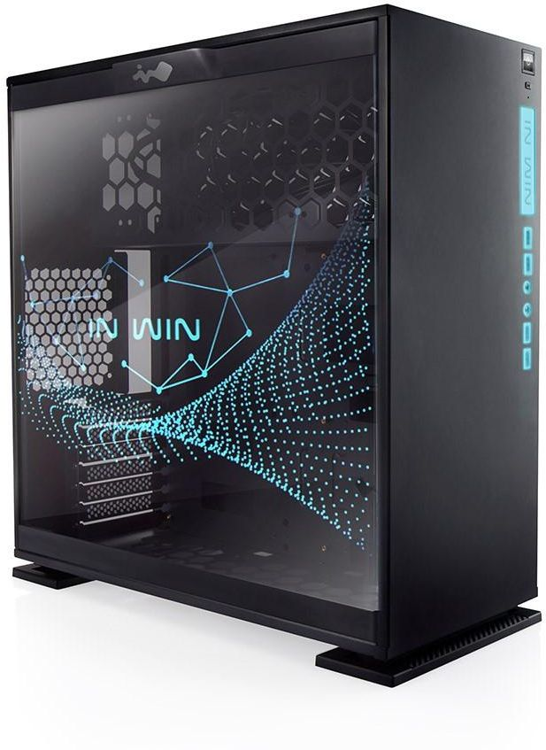 IN WIN 303 BLACK RGB SECC Steel Tempered Glass ATX Mid Tower Window Case