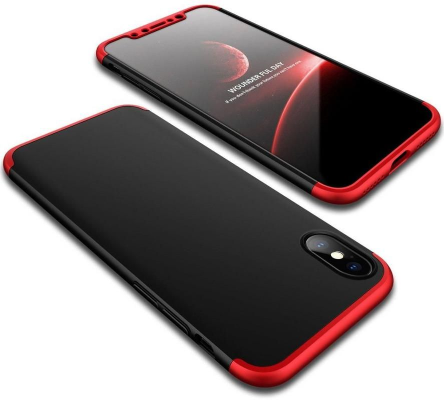 Iphone XS MAX Case 360 GKK Degree 3 pieces - Black & Red