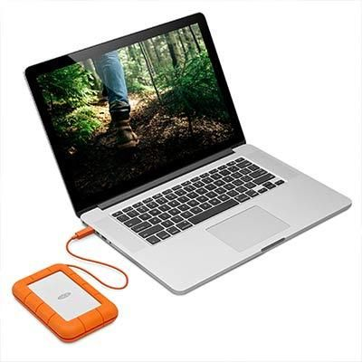 LaCie 2TB Rugged Thunderbolt USB-C External Hard Drive STFS2000800