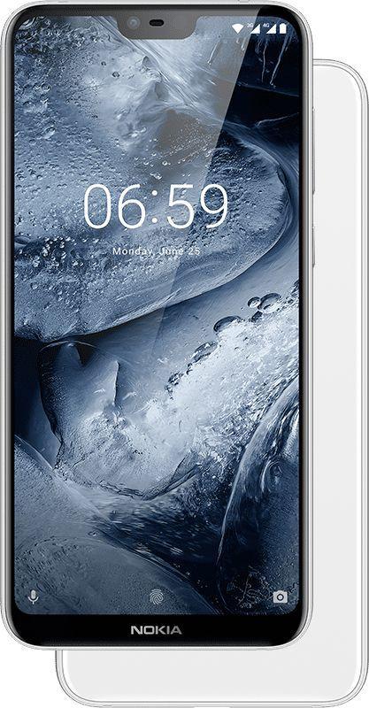 Nokia 6.1 Plus Dual Sim - 64 GB, 4 GB Ram, 4G LTE, White, N61Pds64 GB4G