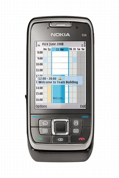 Nokia E66 (110MB, WiFi 3G, Grey Steel)