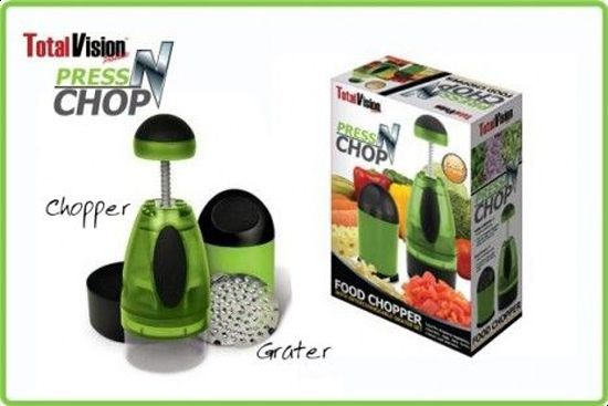 Press N Chop- Food Chopper With Interchangeable Grater Set