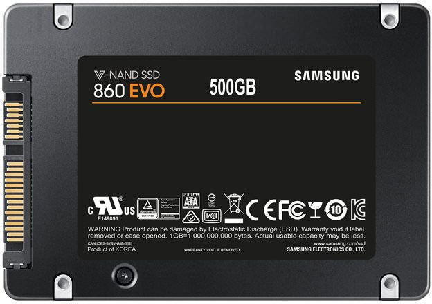 Samsung 860 EVO 500GB 2.5 inch SATA Internal SSD - MZ-76E500B