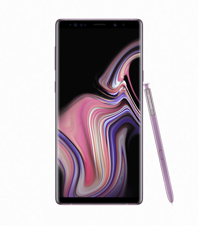 Samsung Galaxy Note 9 Dual Sim - 128 GB, 6 GB Ram, 4G LTE, Lavender Purple
