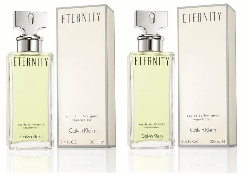 Set Of 2 Ck Eternity Eau De Parfum For Women ,100 ml Each