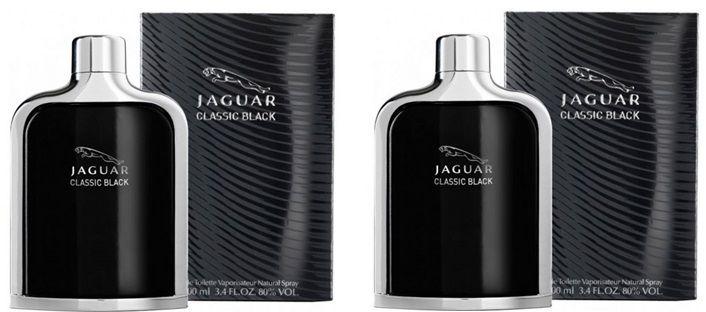 Set of 2 Jaguar Classic Black Eau de Toilette for Men 100 ml
