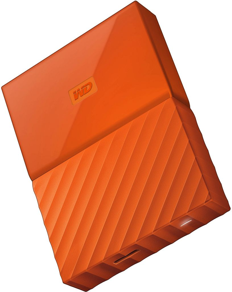 WD 2TB My Passport Portable External Hard Drive USB 3.0 Orange -WDBS4B0020BOR