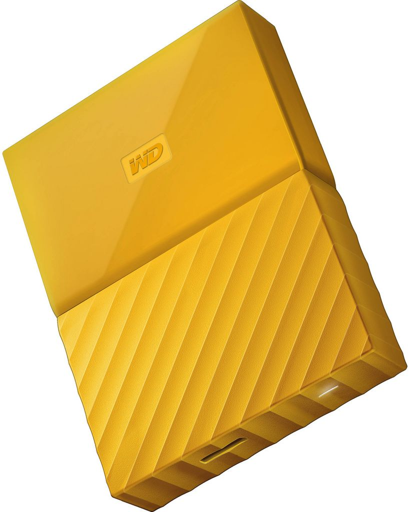 WD 2TB My Passport Portable External Hard Drive USB 3.0 Yellow-WDBS4B0020BYL