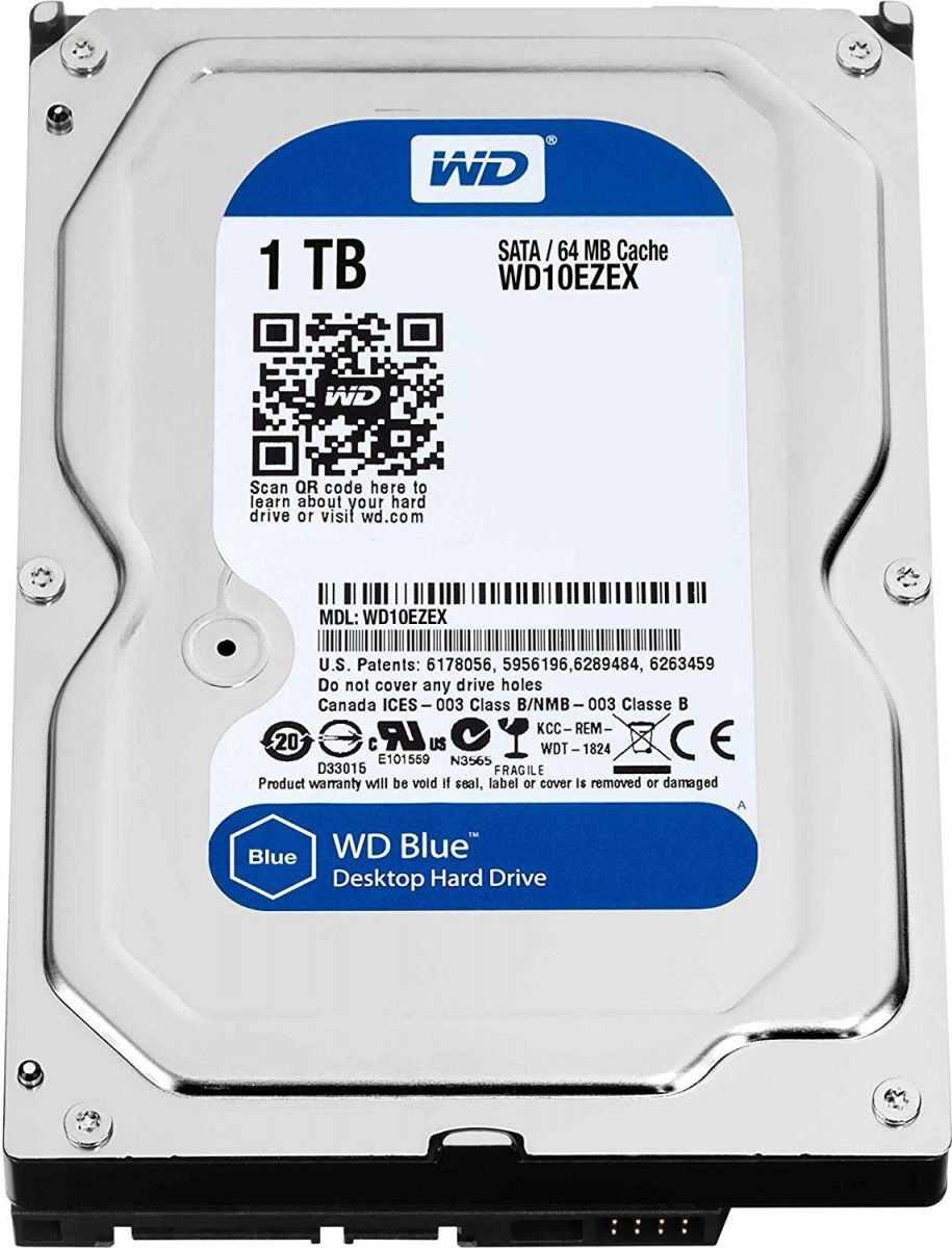 WD Blue 1TB Desktop Hard Disk Drive - 7200 RPM SATA 6 Gb/s 64MB Cache 3.5 Inch