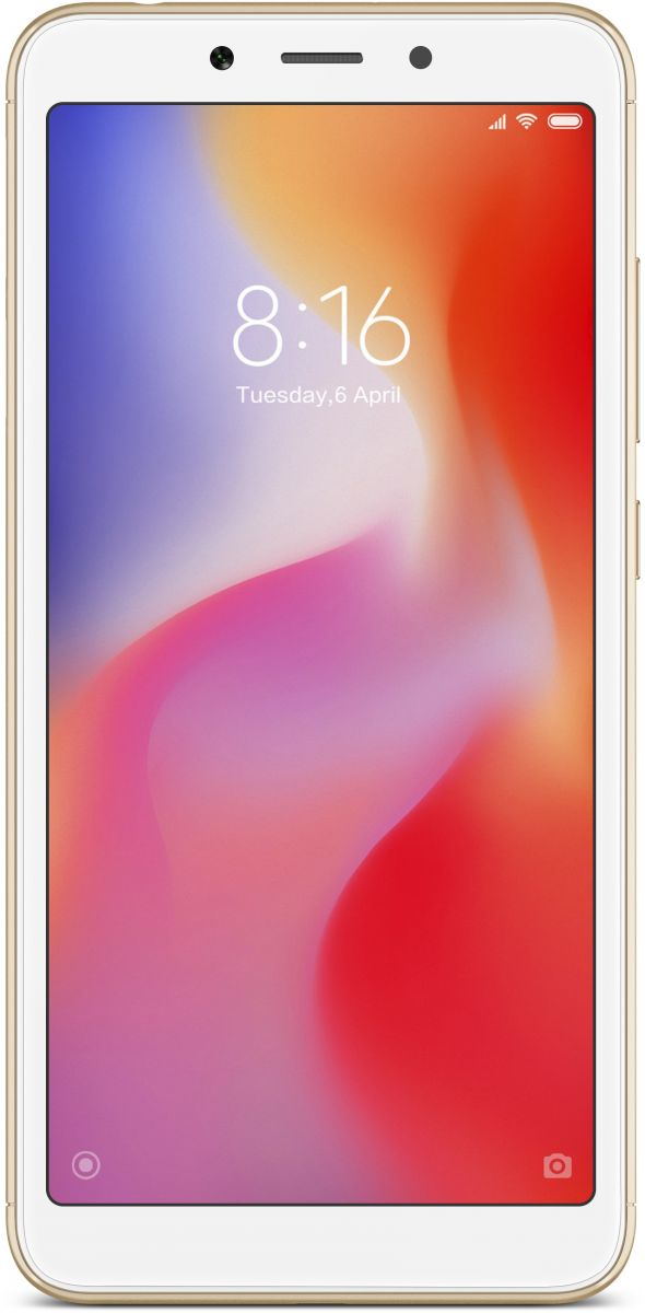 Xiaomi Redmi 6A Dual Sim - 16 GB, 2 GB Ram, 4G LTE, Gold - International Version
