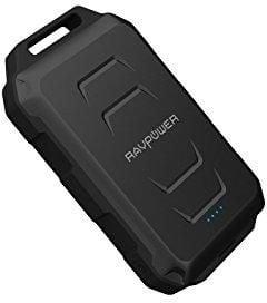 راف بور بطارية احتياطية للهواتف الذكية بسعة 10050 ملي امبير ، اسود ، RP-PB044 ، مقاوم للماء والصدمات