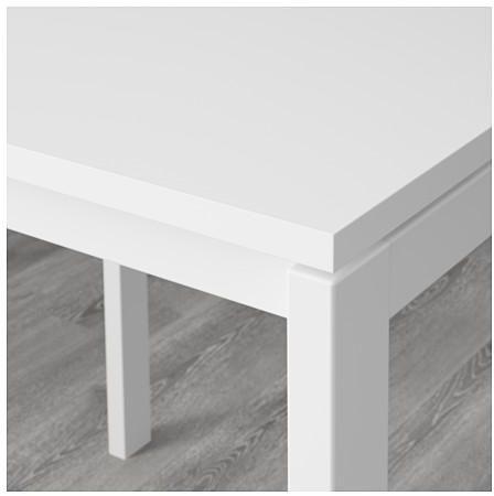 طاولة و4 كراسي, أبيض, 125 سم