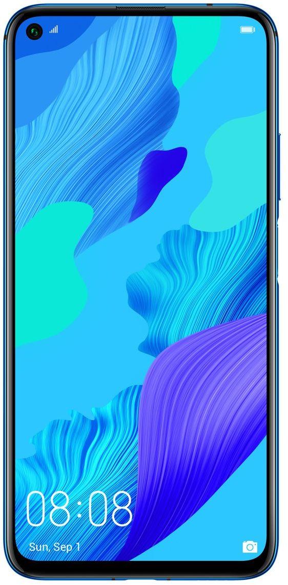 هواوي نوفا 5T بشريحتي اتصال - 128 جيجا، 8 جيجا رام، الجيل الرابع ال تي اي، ازرق