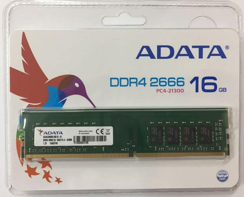 Adata 16GB DDR4 2666Mhz PC4-21300 for Desktop
