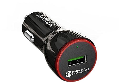 Anker PowerDrive+ 1 24W Car Charger with 1-Port QC 3.0 with Anker 3ft micro USB Cable Black - B2210H11