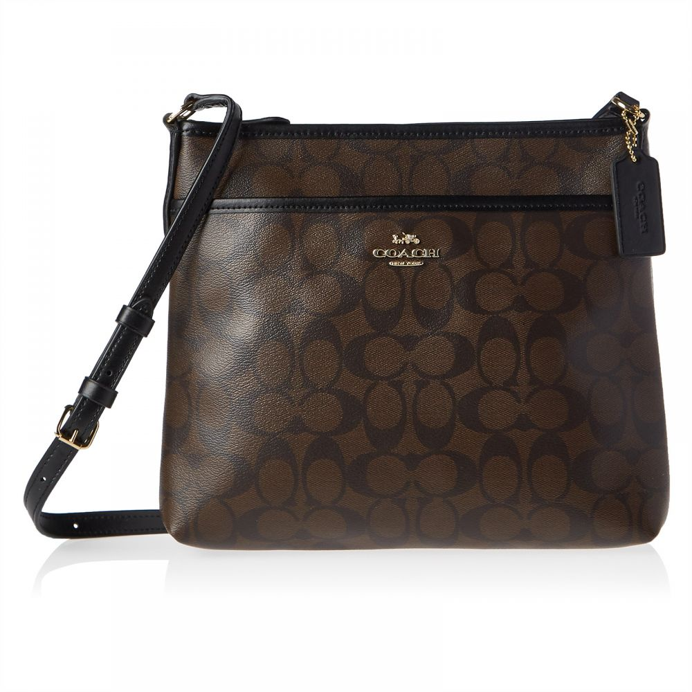 Coach F29210 Signature Crossbody Bag for Women - Leather, Brown
