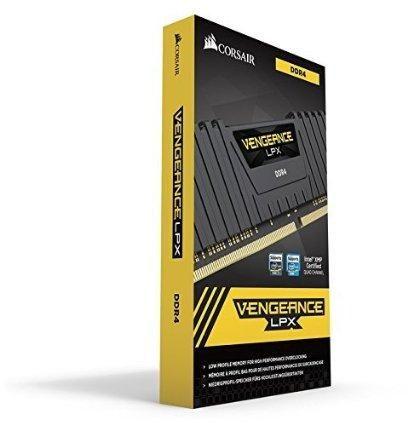 Corsair Vengeance LPX 16GB (2x8GB) DDR4 DRAM 2666MHz (PC4-21300) C16 Memory Kit - Black (CMK16GX4M2A2666C16)