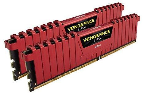 Corsair Vengeance LPX 32 GB 2x16GB 3200 MHz DDR4 Memory Kit Red