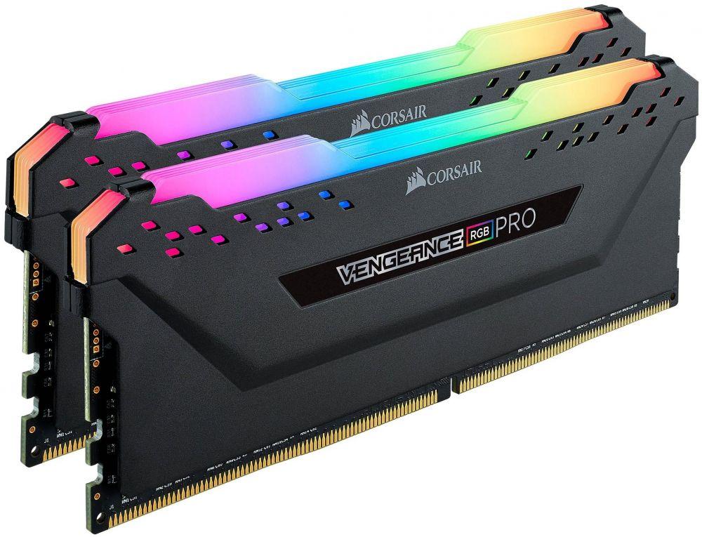 Corsair Vengeance RGB PRO 16GB (2x8GB) DDR4 3600 PC4-28800 - Black (CMW16GX4M2C3600C18)