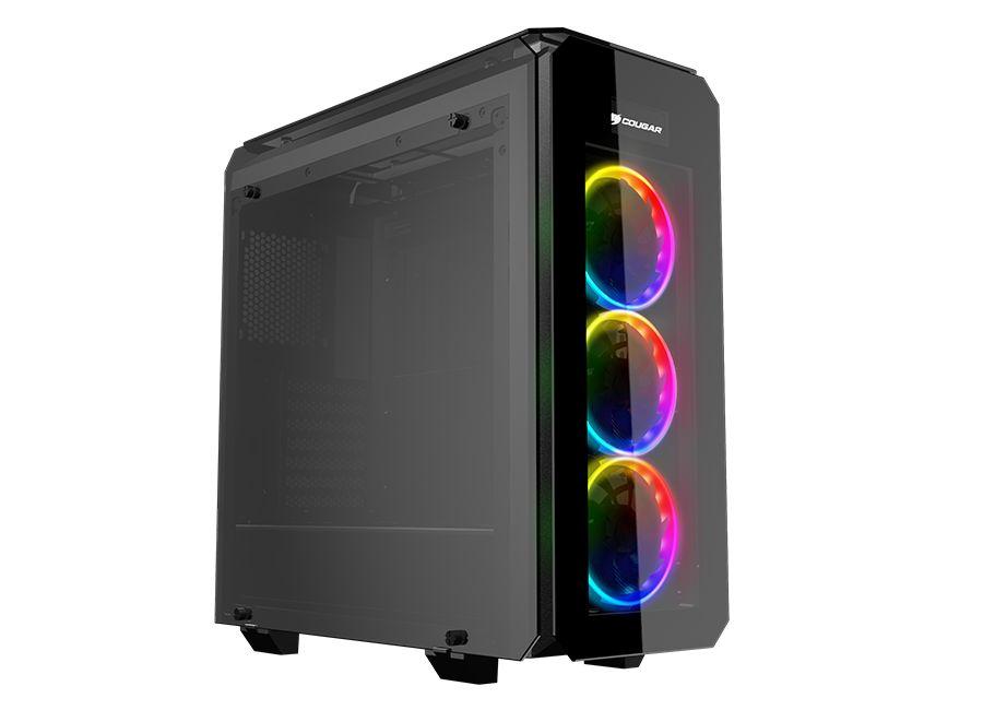 Cougar Puritas RGB Black ATX Mid Tower Computer Gaming Case