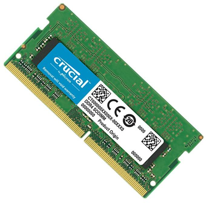 Crucial 4GB DDR4 2400 MHz RAM for Laptop, (PC4-19200), CL17 SR x16 Unbuffered SODIMM Memory Module, 260 Pin (CT4G4SFS624A)