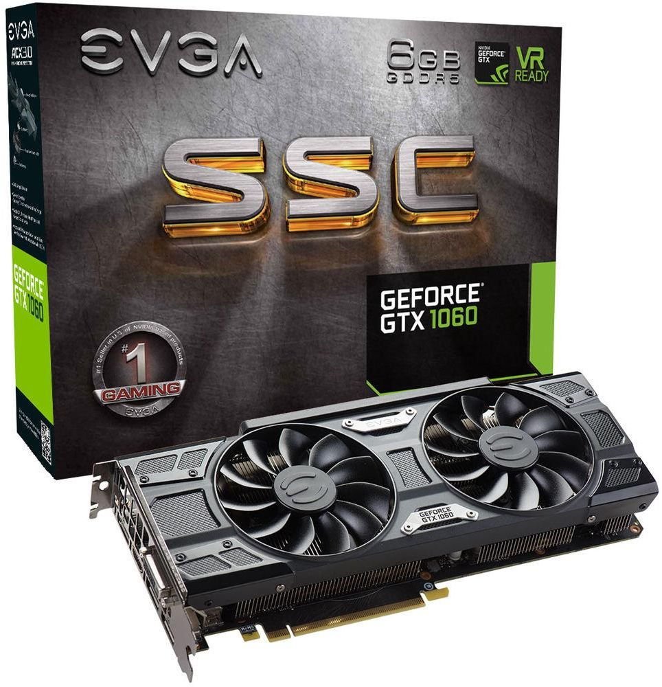 EVGA GeForce GTX 1060 SSC GAMING Graphics Card 6GB DDR5 VRAM ( 06G-P4-6267-KR )