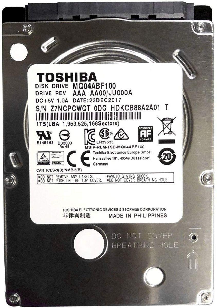 Hard-disk Toshiba 1TB SATA HDD, Internal For Laptops