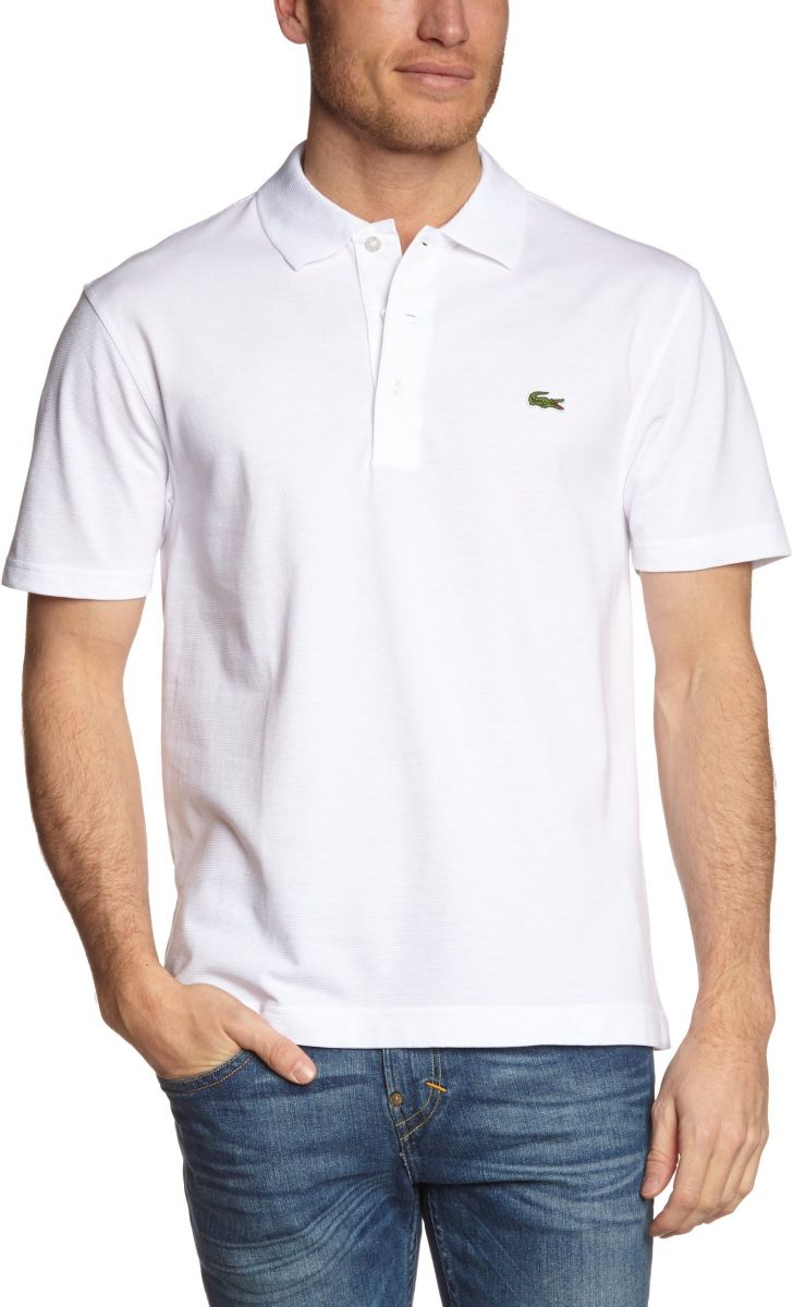 Lacoste Top for Men, White - S