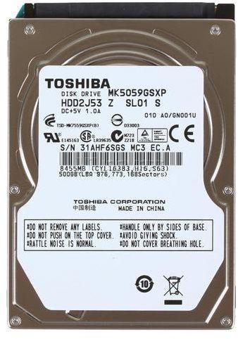 Laptop Hard Drive 500GB SATA 5400RPM