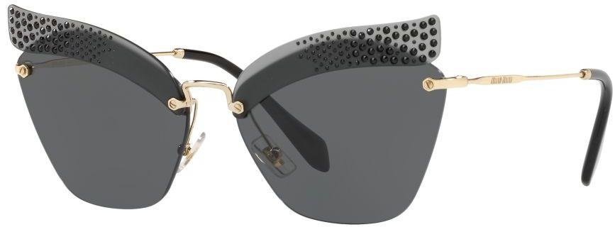 Miu Miu Rimless Women's Sunglasses - 56Ts-Xej1A1 - 63 mm, Black Lens