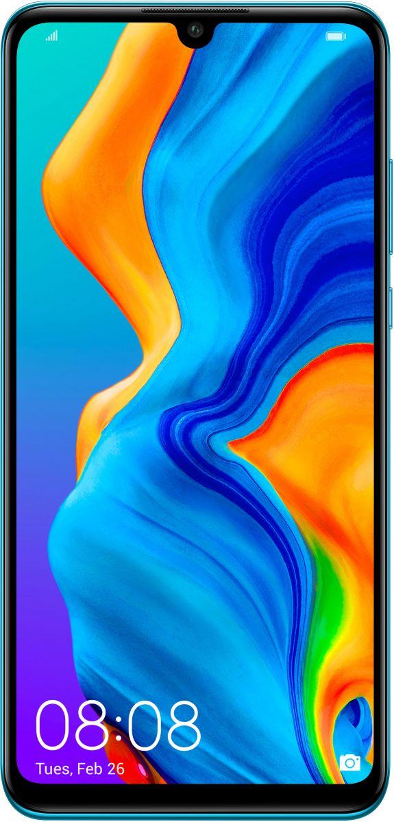 هواوي P30 لايت بشريحتي اتصال - 128 جيجا، 6 جيجا رام، الجيل الرابع ال تي اي، ازرق