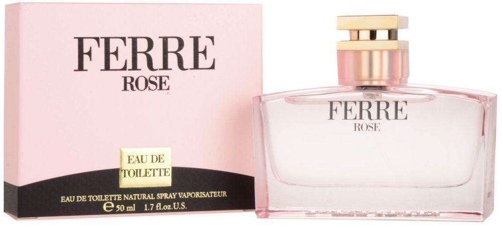 Perfume Ferre Rose by Gianfranco Ferre for Women - Eau de Toilette , 50ml