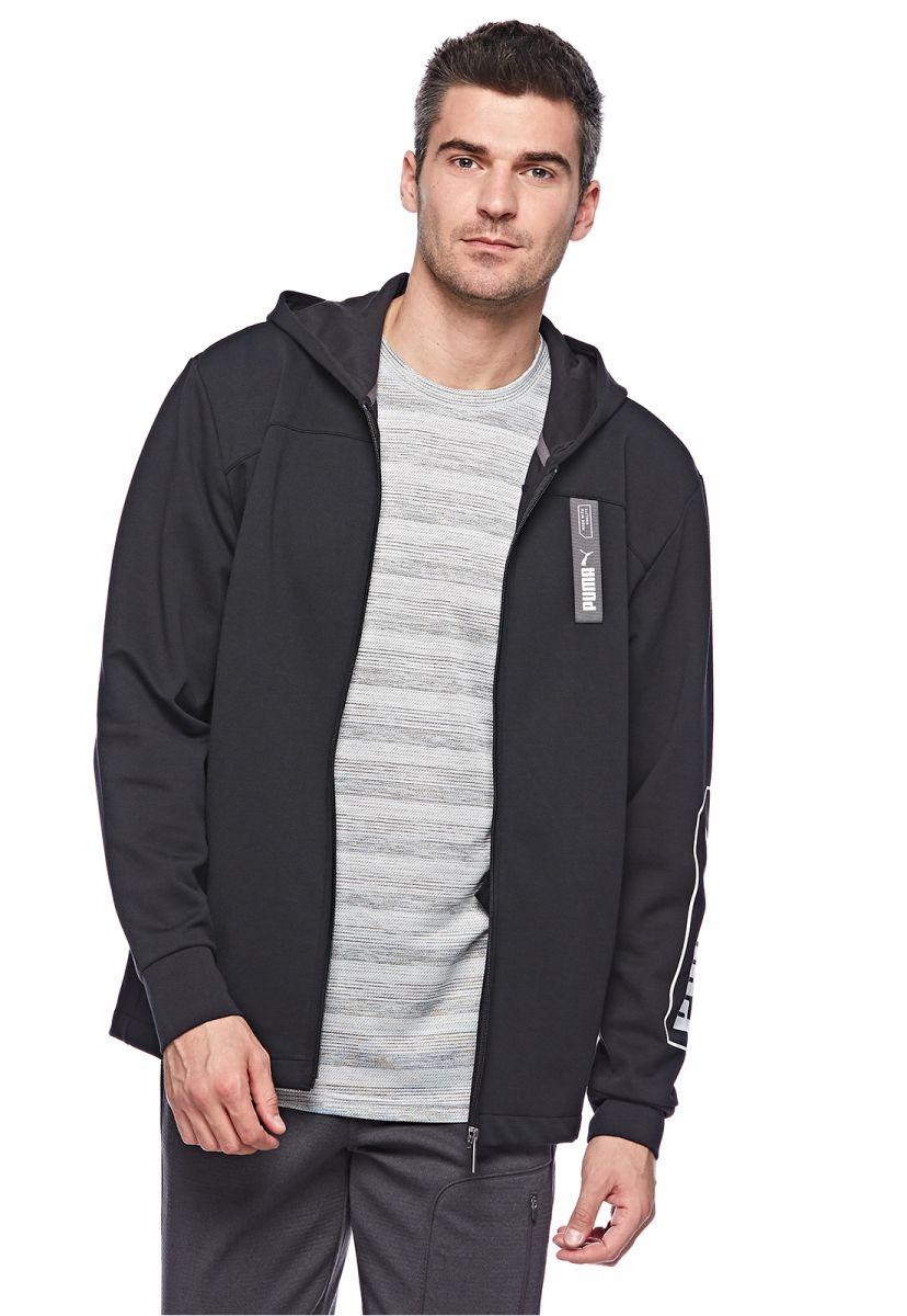 Puma Men's NU-TILITY FZ Hoody Pullover, Black, Small