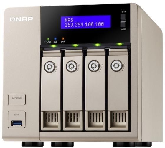 QNAP TVS-463-4G 4 Bay Diskless NAS - Quad Core 2.4GHz Processor, 4GB RAM