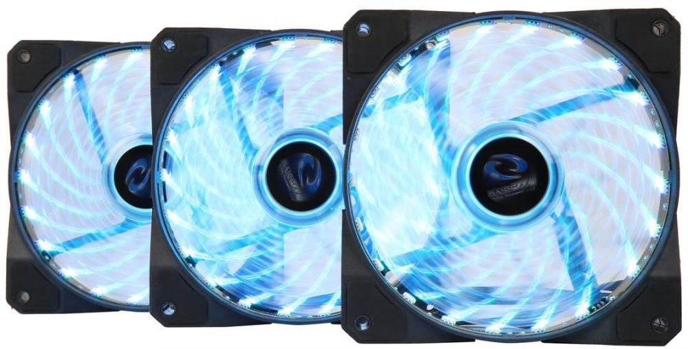 Raidmax NV-A120R3 120mm Three RGB LED Fans with Controller