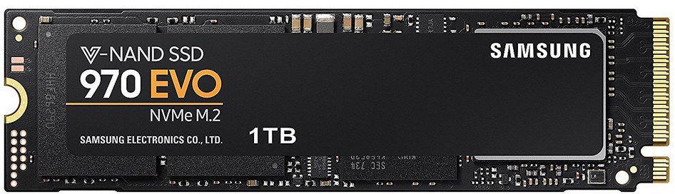 Samsung 970 EVO 1TB M.2-2280 PCIe NVMe Internal SSD(MZ-V7E1T0BW)