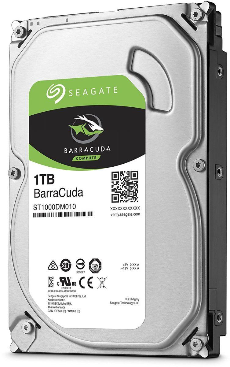 Seagate BarraCuda 1TB Internal Sata 6Gb - s 64MB 3.5 inch Desktop Hard Drive -ST1000DM010