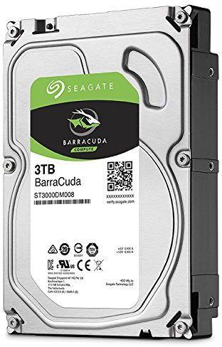 """Seagate BarraCuda 3TB Internal Sata 6Gb/s 64MB 3.5"""" Desktop Hard Drive -ST3000DM008"""