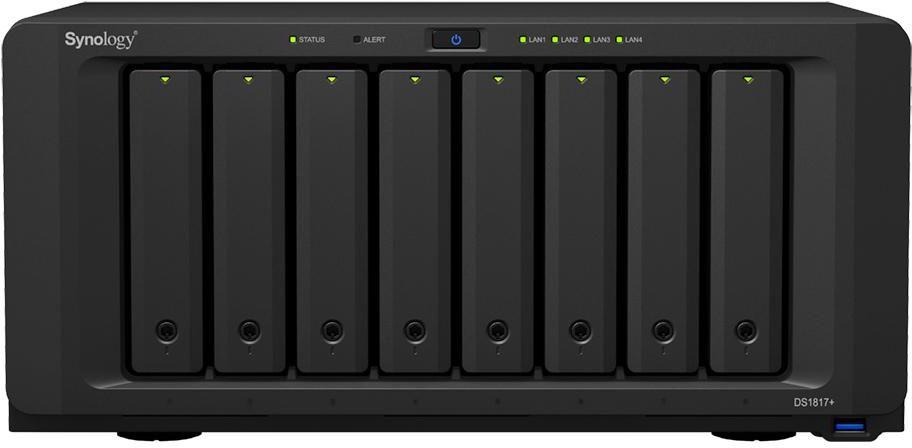Synology DiskStation DS1817+(2G) 8 Bay Diskless NAS - Atom Quad Core CPU 2GB RAM
