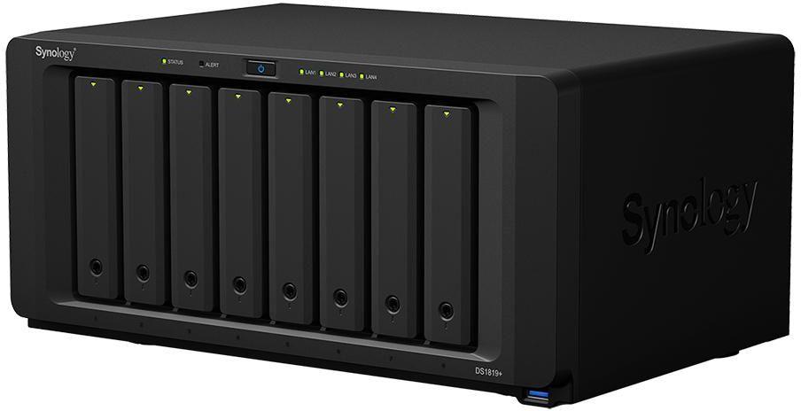 Synology DiskStation DS1819 Plus 8G 8 Bay Diskless NAS - Atom Quad Core CPU 8GB RAM