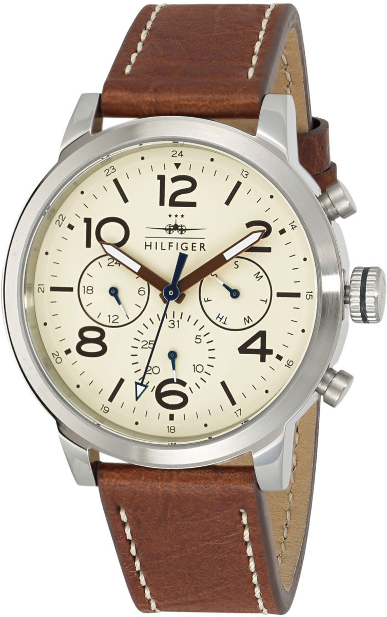 Tommy Hilfiger Jake Multifunction Watch for Men - Analog Leather Band - 1791230
