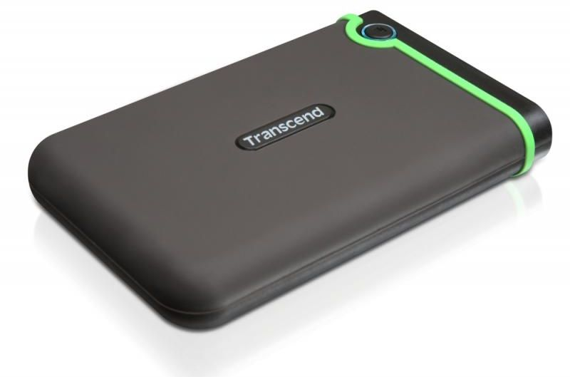Transcend StoreJet 25H3P 1TB 5400 RPM USB 3.0 External Desktop Hard Drive Grey and Green - TS1TSJ25H3P