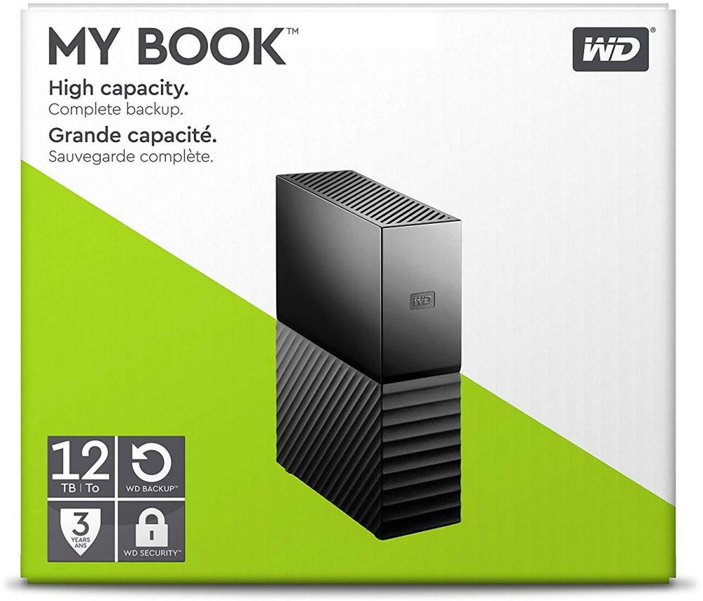 WD 12TB My Book Desktop External Hard Drive, USB 3.0 - WDBBGB0120HBK-NESN