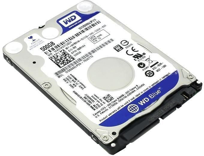 WD 500GB Laptop HDD 2.5 inch SATA 5400 Rpm - WD5000LPCX