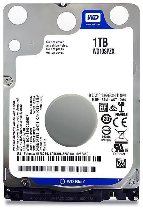 WD Blue 1TB HDD Laptop 2.5 inch SATA 5400RPM - WD10SPZX