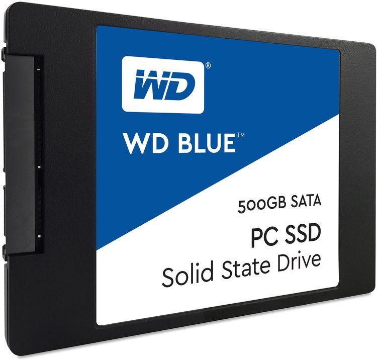 WD Blue 500GB SATA III 6Gb-s 2.5 Inch Inch 7mm Internal SSD - WDS500G1B0A